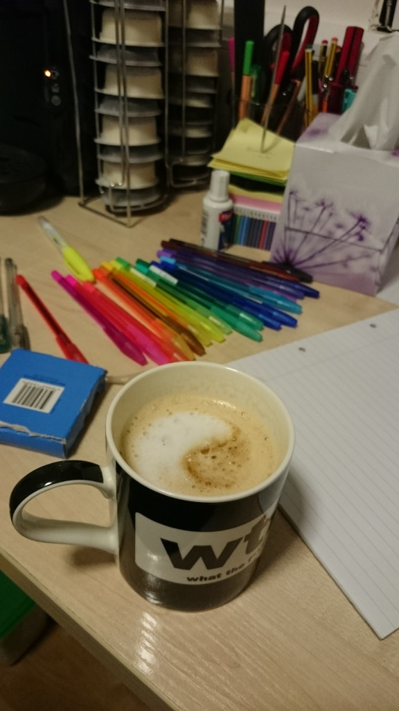 I got a Tassimo as a present from my parents; having a Caramel Latte is a nice stress-break and a little treat too!